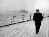 The Prime Minister's Journey across the Atlantic, Winston Churchill, October 9, 1941 Prints