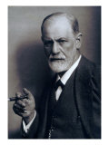 Sigmund Freud Smoking Cigar in a Classic Early 1920s Portrait Poster