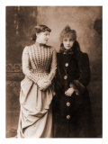 Sarah Bernhardt, French Actress, with Her English Contemporary, Actress Lillie Langtry, 1887 Poster