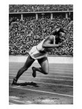 Jesse Owens Setting the 200 Meter Olympic Record at the Olympics in Berlin, Germany, 1936 Poster