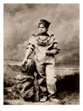 Sarah Bernhardt, in Sea-Diving Costume as the Ocean Empress. Ca, 1880 Affiche