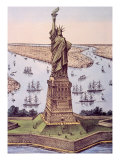 The Statue of Liberty, 1885 Prints by  Currier & Ives