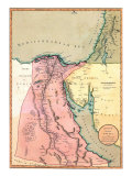 1803 Map of Egypt, with Part of Arabia and Palestine Prints