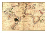 1544 Nautical Map of the Atlantic Ocean Photo