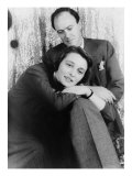 Roald Dahl, British Author with His Wife, Actress Patricia Neal in 1954 Foto von Carl Van Vechten