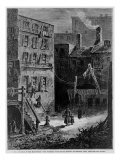 Homeless Poor in Donovan Lane, Near the Five Points Slum Neighborhood in New York City, 1872 Posters