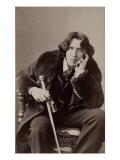 Oscar Wilde, Irish Literary Genuis, in Flamboyant Costume. 1882 Studio Portait by Napoleon Sarony Posters