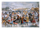 Central Park in Winter Poster by  Currier & Ives