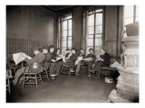 Homeless Men in the Reading Room of a Dime a Night Bowery Lodging House in 1910 Posters