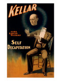 Harry Kellar, American Magician Performing His Self Decapitation Illusion, 1897 Print