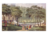 'The Circular Pleasure Railway Prints by  Currier & Ives