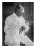 Woodrow Wilson with His First Grandchild, Ellen Wilson Mcadoo Print