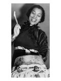 Zora Neale Hurston, African American Author and Folklorist, Beating the Hountar, or Mama Drum, 1937 Photo