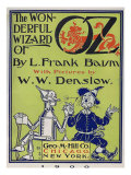 """Wonderful Wizard of Oz,"" Title Page of First Edition Written by Frank Lyman Baum in 1900 Photo"