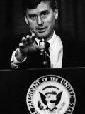Bush Sr. Presidency. US Vice President Dan Quayle at Press Conference, 1989 Photo