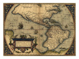 1570 Map of the Western Hemisphere. from Abraham Ortelius, Theatrvm Orbis Terrarvm Prints