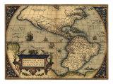 1570 Map of the Western Hemisphere. from Abraham Ortelius, Theatrvm Orbis Terrarvm Photo