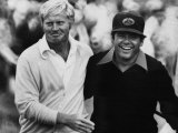Jack Nicklaus, Lee Trevino, at U.S. Open Championship in Pebble Beach, California, June 18, 1972 Foto