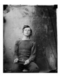 Assasin Lewis Payne, in Sweater, Seated and Manacled, April 1865 Photo