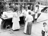 Little Italy, Vendor with Wares Displayed During a Festival, New York, 1930s Posters