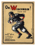 University of Wisconsin Football Player Runs for the End Zone, 1910 Posters