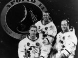 The Crew of Apollo 14: Stuart Roosa, Alan Shepard, Edgar Mitchell, 1971 Photo