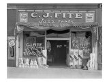 Alabama Feed Store Front, C. J. Fite Jazz Feeds, March 1936 Photo