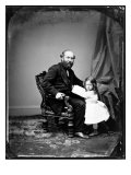 President James A. Garfield and Daughter, Ca 1880 Posters