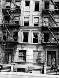 Burned Out Apartment Building in Harlem, New York City, 1946 Posters