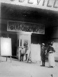People in Front of a Movie Theater Showing the Girl Conscript, Wilmington, Delaware, May, 1910 Posters