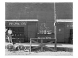 Shoeshine Stand, Southeastern U.S. Photo by Walker Evans