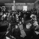 Immigrants Awaiting Examination at Ellis Island, 1902 Photo