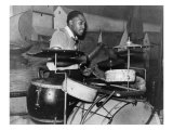 African American Drummer in Orchestra in Memphis Juke Joint, Tennessee, October, 1939 Photo