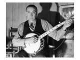 Wade Ward, of the Bog Trotters Band, with Banjo, Galax, Virginia, 1937 Posters