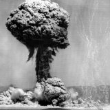 Atomic Energy: an Explosion of the H-Bomb During Testing in the Marshall Islands, 1952 Foto