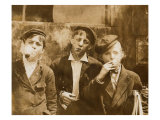 A.M. Monday, Newsies at Skeeter's Branch They Were All Smoking, St. Louis, Missouri, May 9, 1910 Photo