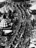 Aerial View of the 1960s New York World's Fair, September 5, 1965, Flushing, New York Posters