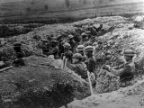 World War I, American 132nd Infantry, 33rd Division, in a Trench at Alexandre, Meuse, France, 1918 Photo