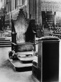 England's Coronation Chair, Westminster Abbey, London, England, 1930s Photo