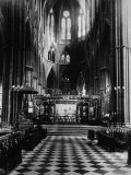 British Royalty. Altar of Westminster Abbey, London, England, 1930s Photo