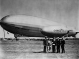 The LZ 129 Graf Zeppelin, and the Volunteer, a Goodyear Blimp, 1930s Photo