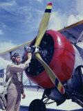 World War II, Cadet Thanas, at the Naval Air Base, Corpus Christi, Texas, 1942 Posters
