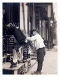 Child Labor, Bootblack at 2 West 4th Street, Wilmington, Delaware. May, 1910 Photo
