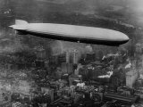 The LZ 129 Graf Zeppelin, over Philadelphia, Pennsylvania, October 16, 1928 Photo