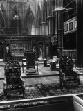 Coronation Chairs of British Royalty, Westminster Abbey, London, England, 1930s Posters