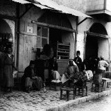 Coffee Shop with Gramophone, Jerusalem, 1910s Posters