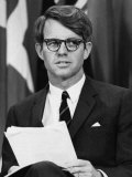 Senator Robert F. Kennedy Waits to Address 14,500 Students, Kansas State University, March 25, 1968 Photo