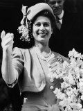 Queen of England Princess Elizabeth, Buckingham Palace, London, England, October, 1947 Posters