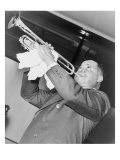 Louis Armstrong, African American Jazz Musician, Performing in 1937 Posters