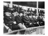 President William H. Taft and Several Other Men in Top Hats at a 1910 Baseball Game Photo